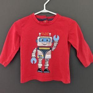 Red robot long sleeved shirt